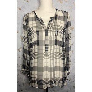 Joie 100% Silk Flannel Long Sleeve Size Medium
